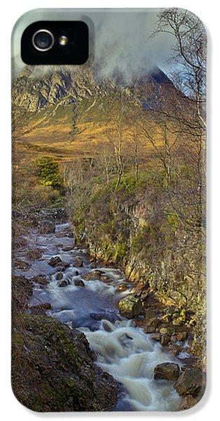 Stream Below Buachaille Etive Mor IPhone 5 Case by Gary Eason
