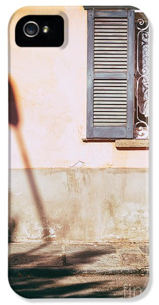 IPhone 5 Case featuring the photograph Street Lamp Shadow And Window by Silvia Ganora