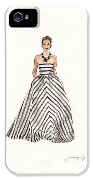 Striped Glamour IPhone 5 Case by Jazmin Angeles