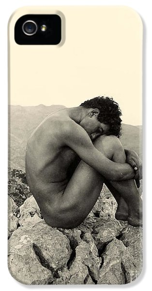 Study Of A Male Nude On A Rock In Taormina Sicily IPhone 5 Case