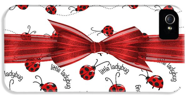 Stylish Ladybugs IPhone 5 / 5s Case by Debra  Miller