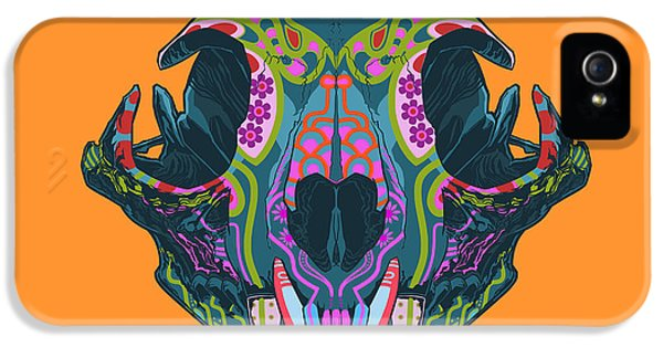 Folk Art iPhone 5 Case - Sugar Lynx  by Nelson dedos Garcia