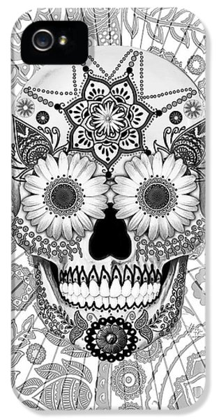 Sugar Skull Bleached Bones - Copyrighted IPhone 5 Case by Christopher Beikmann