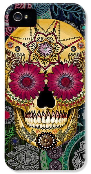 Sugar Skull Paisley Garden - Copyrighted IPhone 5 Case