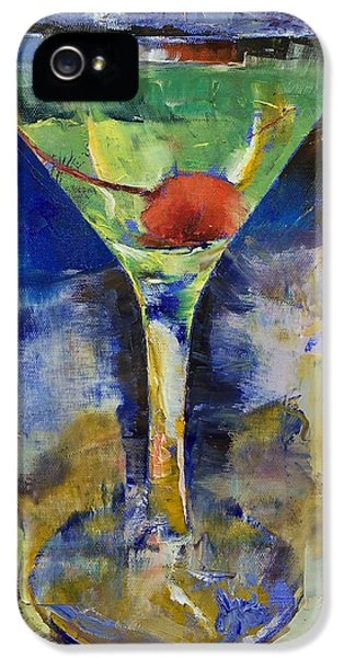 Summer Breeze Martini IPhone 5 Case by Michael Creese
