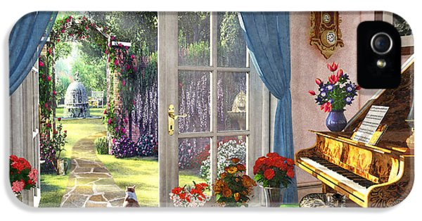IPhone 5 Case featuring the painting Summer Garden View by Dominic Davison
