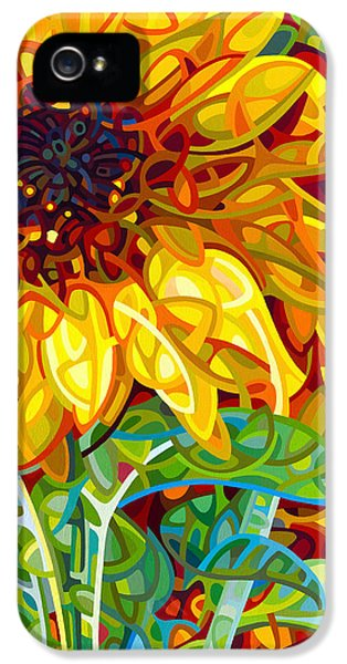 Sunflower iPhone 5 Case - Summer In The Garden by Mandy Budan