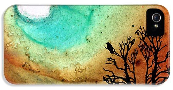 Summer Moon - Landscape Art By Sharon Cummings IPhone 5 Case by Sharon Cummings