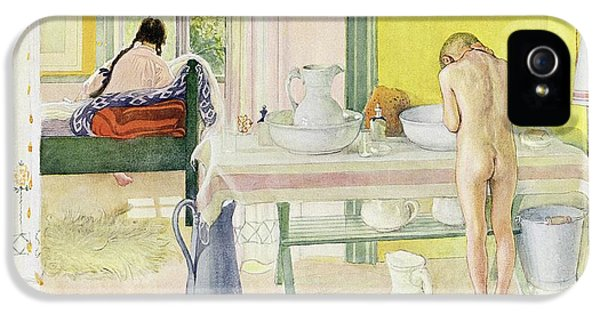 Summer Morning Pub In Lasst Licht Hinin Let In More Light IPhone 5 Case by Carl Larsson