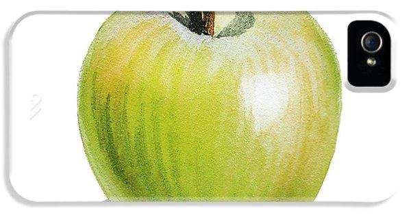 IPhone 5 Case featuring the painting Sun Kissed Green Apple by Irina Sztukowski