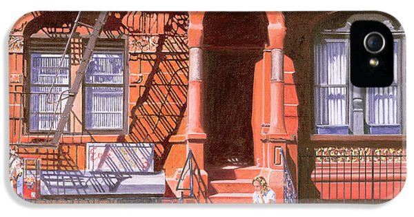 Sunday Afternoon East 7th Street Lower East Side Nyc IPhone 5 Case by Anthony Butera