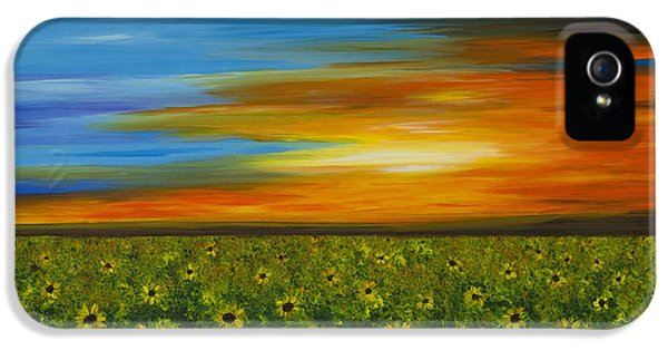 Sunflower Sunset - Flower Art By Sharon Cummings IPhone 5 / 5s Case by Sharon Cummings