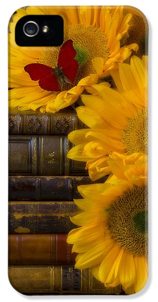 Sunflowers And Old Books IPhone 5 Case