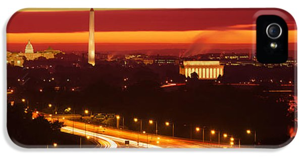 Sunset, Aerial, Washington Dc, District IPhone 5 Case by Panoramic Images