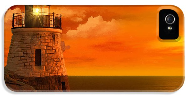 Sunset At Castle Hill IPhone 5 Case by Lourry Legarde