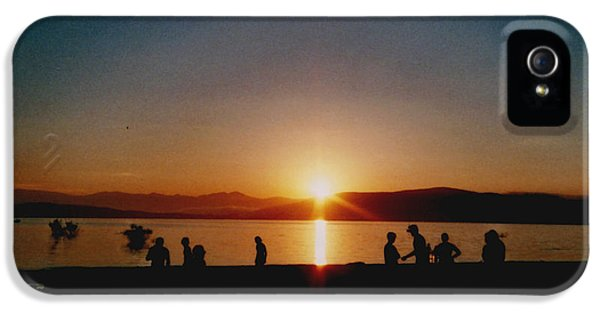 Beach Sunset iPhone 5 Case - Sunset Boulevard by Juan  Bosco