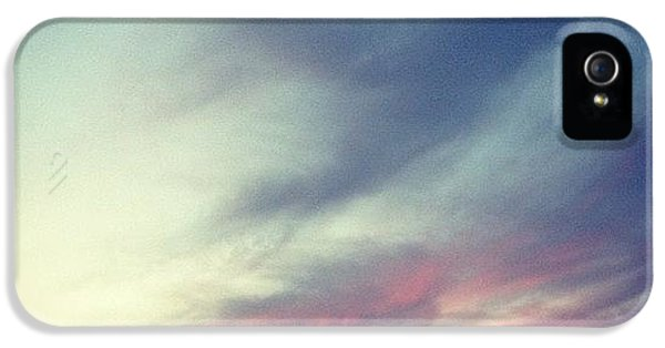 Blue iPhone 5 Case - Sunset Clouds by Christy Beckwith