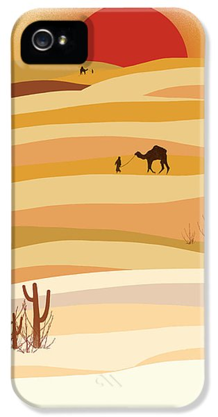 Sunset In The Desert IPhone 5 Case by Neelanjana  Bandyopadhyay