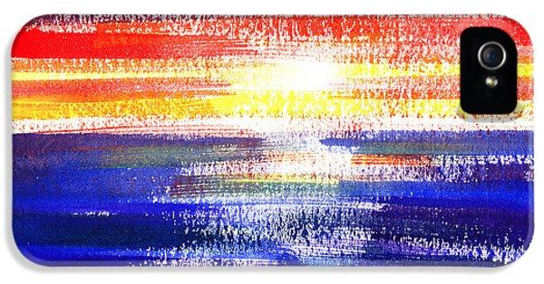 Sunset Lines Abstract IPhone 5 Case by Irina Sztukowski