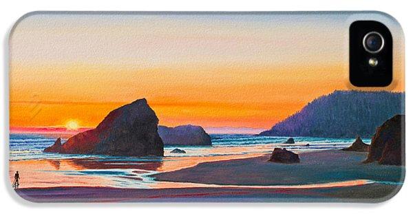 Beach Sunset iPhone 5 Case - Sunset - Oregon Coast by Paul Krapf