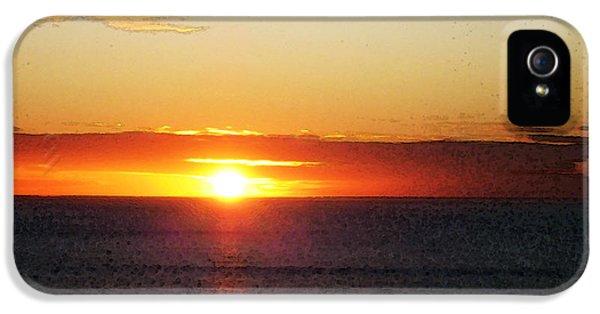 Beach Sunset iPhone 5 Case - Sunset Painting - Orange Glow by Sharon Cummings
