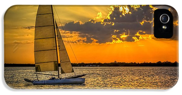 Beach Sunset iPhone 5 Case - Sunset Sail by Marvin Spates