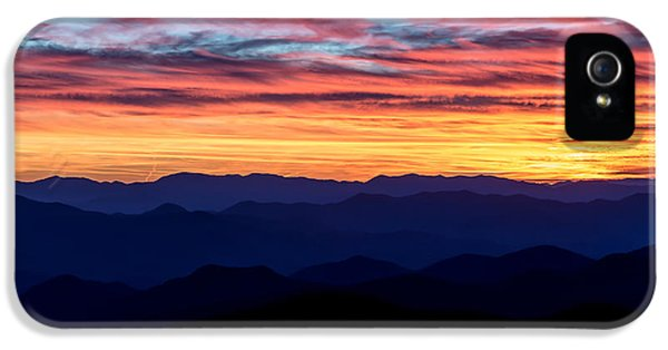 Sunset Silhouette On The Blue Ridge Parkway IPhone 5 Case by Andres Leon