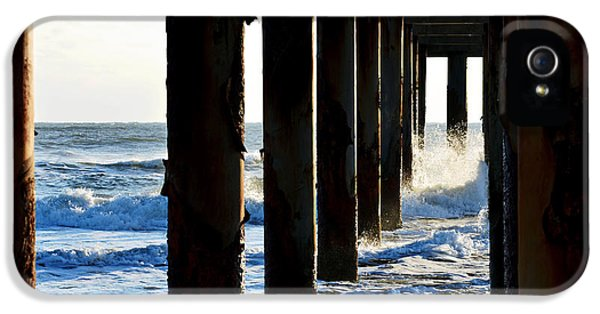Sunwash At St. Johns Pier IPhone 5 Case by Anthony Baatz
