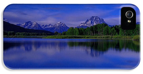 Mount Rushmore iPhone 5 Case - Super Moon by Chad Dutson