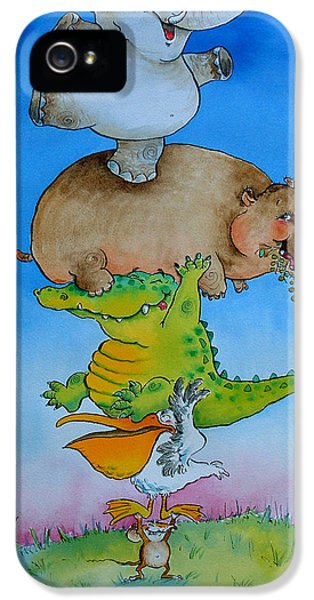 Super Mouse Pen & Ink And Wc On Paper IPhone 5 Case by Maylee Christie