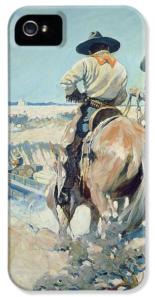 Supply Wagons IPhone 5 Case by Newell Convers Wyeth