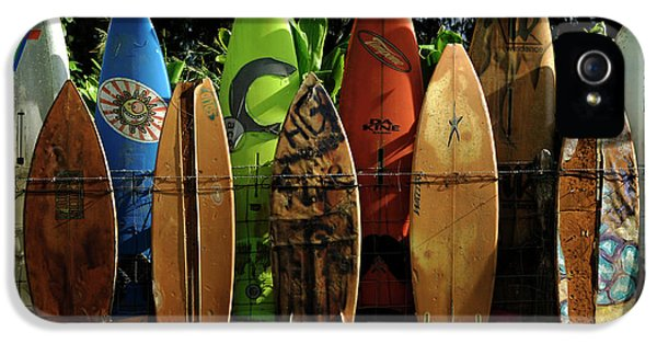 Surfboard Fence 4 IPhone 5 Case by Bob Christopher