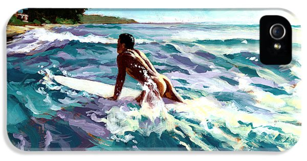 Surfer Coming In IPhone 5 Case by Douglas Simonson