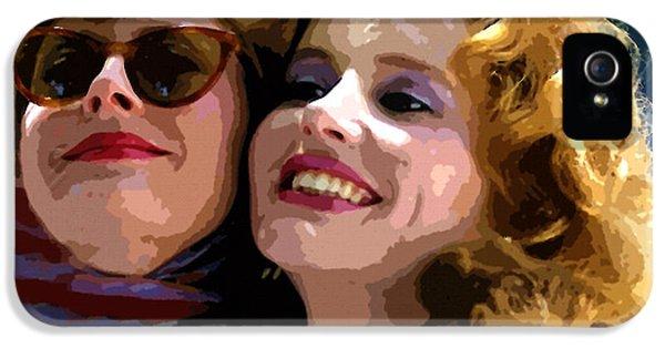 Susan Sarandon And Geena Davies Alias Thelma And Louis - Watercolor IPhone 5 Case by Doc Braham