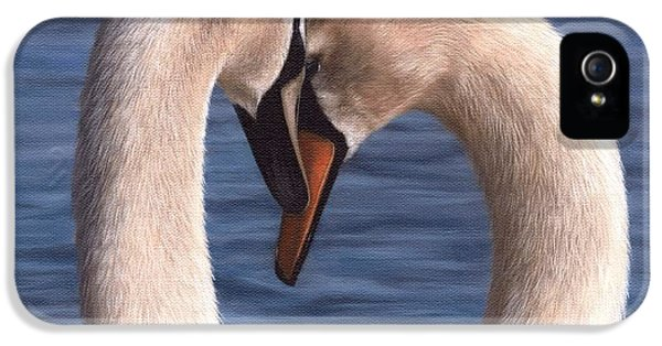 Swans Painting IPhone 5 / 5s Case by Rachel Stribbling