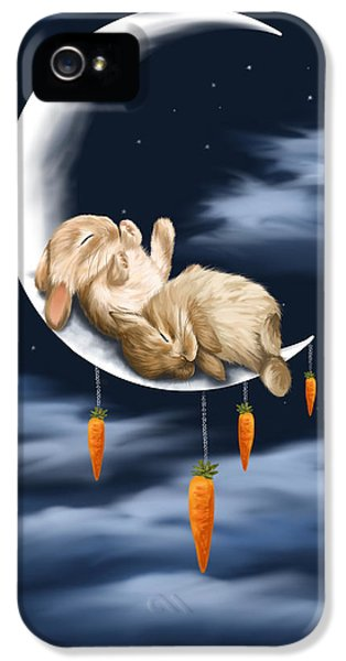 Rabbit iPhone 5 Case - Sweet Dreams by Veronica Minozzi
