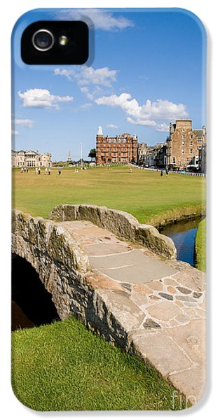 Swilcan Bridge On The 18th Hole At St Andrews Old Golf Course Scotland IPhone 5 Case by Unknown