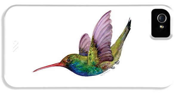Swooping Broad Billed Hummingbird IPhone 5 Case by Amy Kirkpatrick