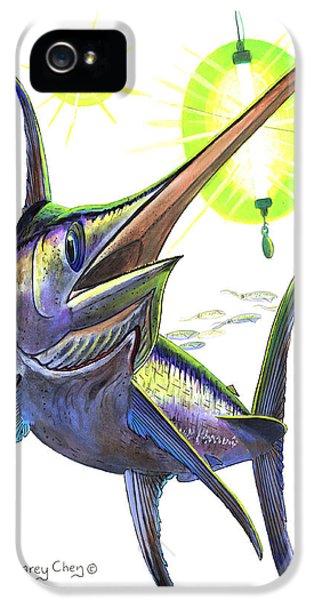 Swordfish iPhone 5 Case - Swordfishing by Carey Chen