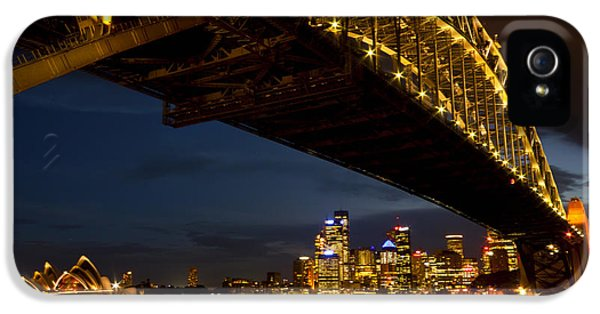 IPhone 5 Case featuring the photograph Sydney Harbour Bridge by Miroslava Jurcik