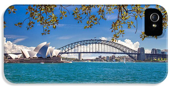 Sydney Harbour Skyline 2 IPhone 5 Case by Az Jackson