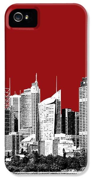 Sydney Skyline 1 - Dark Red IPhone 5 / 5s Case by DB Artist