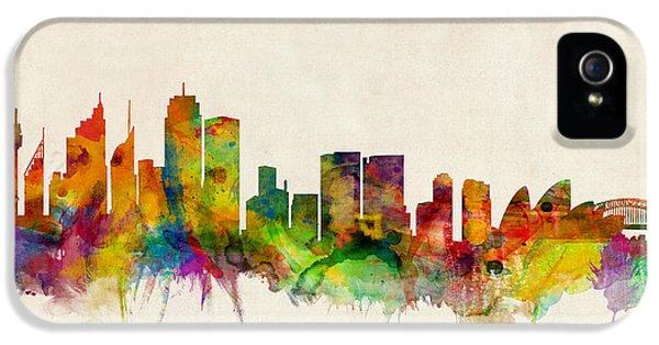 Sydney Skyline IPhone 5 Case by Michael Tompsett