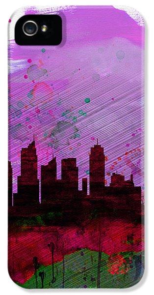 Sydney Watercolor Skyline 2 IPhone 5 Case by Naxart Studio