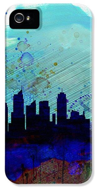 Sydney Watercolor Skyline IPhone 5 Case by Naxart Studio