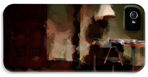Table Lamp Chair IPhone 5 / 5s Case by H James Hoff