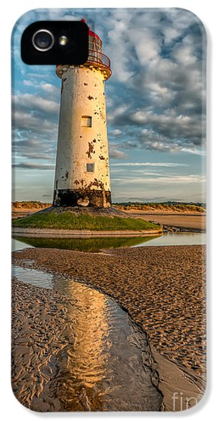 Talacre Lighthouse Sunset IPhone 5 Case by Adrian Evans