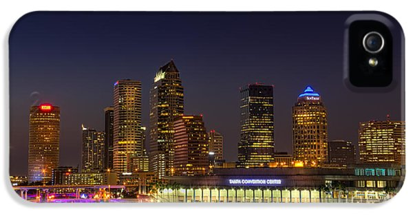 Tampa Lights At Dusk IPhone 5 Case by Marvin Spates