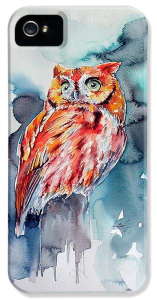 Tangerine Owl  IPhone 5 Case by Kovacs Anna Brigitta
