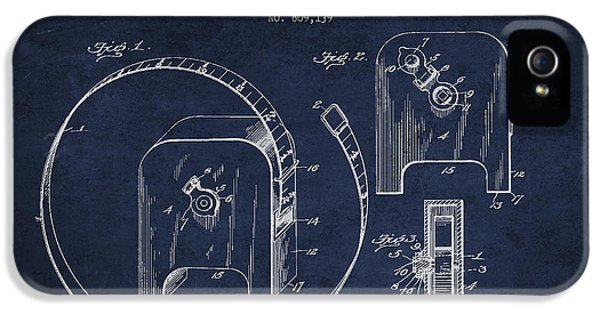 Tape Measure Patent Drawing From 1906 IPhone 5 Case